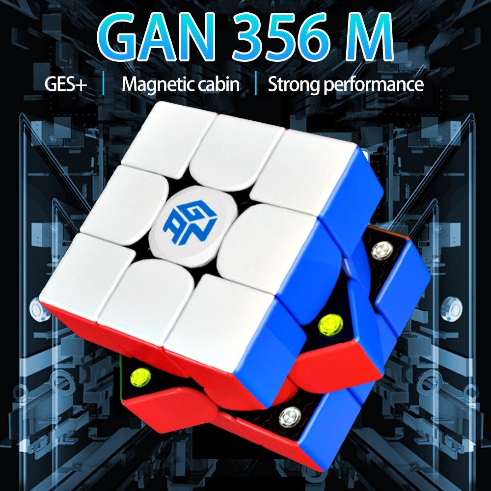 Gan356 M 3x3x3 Magic Magnetic Cube Stickerless Gan356M Professional GAN 356 M Speed gan Cube Magnets 3x3 Puzzle Cube Gans